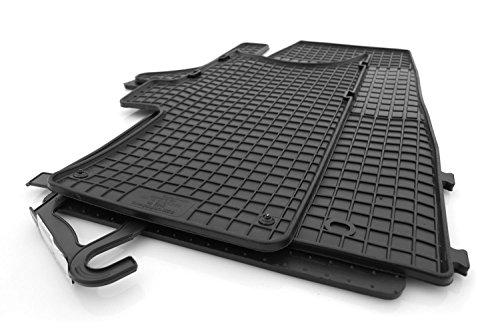kh Teile Gummimatten Gummi Fußmatten 3-teilig schwarz