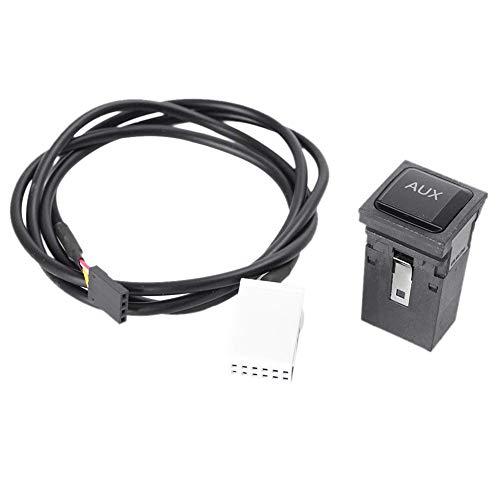 TOOGOO Cable De Línea De Interruptor De Adaptador De Aux De Coches para VW Volkswagen Rabbit Scirocco Golf/GTI/R Mk5 Mk6 2005-2014