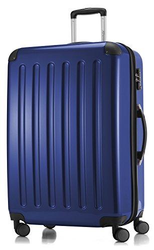 HAUPTSTADTKOFFER - Alex - 4 Doppel-Rollen Großer Hartschalen-Koffer Koffer Trolley Rollkoffer Reisekoffer, TSA, 75 cm, 119 Liter, Dunkelblau