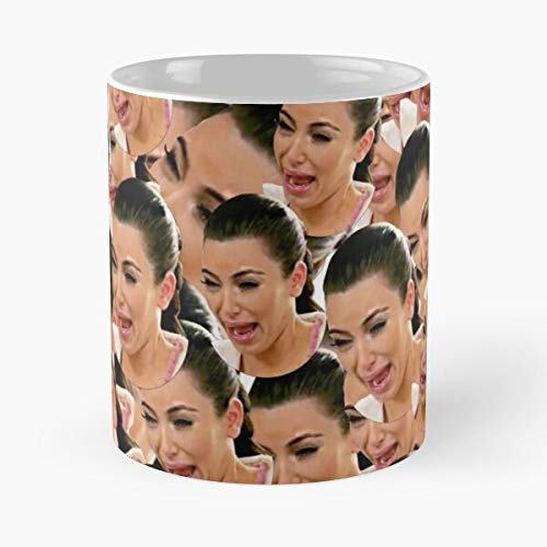 Crying Culture Show Pop Kim Kardashian Collage Design Reality Tv - Best 11 Ounce Ceramic Mug - Classic Mug for Coffee, Tea, Chocolate or Latte