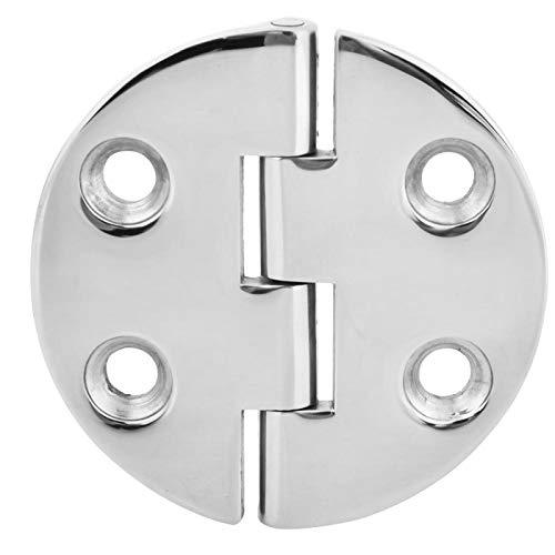 Vobor Herramienta de instalación de puerta con bisagra redonda de acero inoxidable Herrajes para muebles 64 x 64 x 4,5 mm
