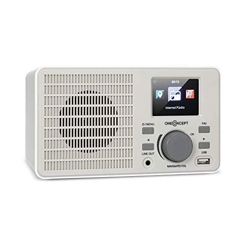 oneConcept TuneUp – Radio con Internet, WiFi, 5 W de Potencia, Control por la aplicación móvil AirMusic, Salida de...