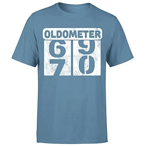 Milestone Birthday Oldometer odómetro torneando 70 años regalo para hombre camiseta regalo para él