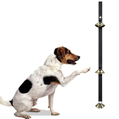 ZNSH Perros Timbre de la Puerta, Adiestramiento de Perros higiénico Gran Campana, Timbre Aseo Ajustable, fácil Manera de Entrenar a su Cachorro Timbre de la Puerta, Ultra-Loud 2pack