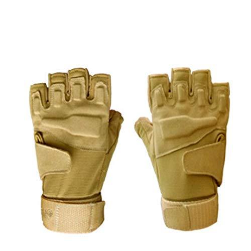 SFHGspecial forces taktische handschuhe black - hawk - halb - fingriger handschuh spezialeinheit taktisch - sport - hälfte hat ihre handschuhe,khaki - m