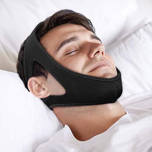 NYTYU Anti-Schnarchen Kinnriemen, Schnarchlösung, Anti-Schlafapnoe, Einstellbare Anti-Schnarchen-Geräte Besserer Schlaf-Helfer für Männer und Frauen