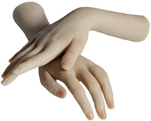 SEYJ Silikon lebensgroße weibliche Mannequin Hand Flexible Finger Realistische Silikon gefälschte Handmodell für Anzeige Jewerly
