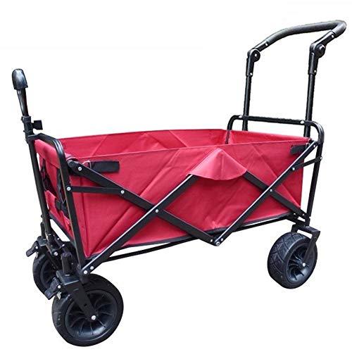 ZSLD Carro De Mano Plegable/Carrito De Compras Fuerte/Vagón De Playa con Rodamiento 80 Kg / 176 LB para Equipaje, Personal, Viaje, Automóvil,A
