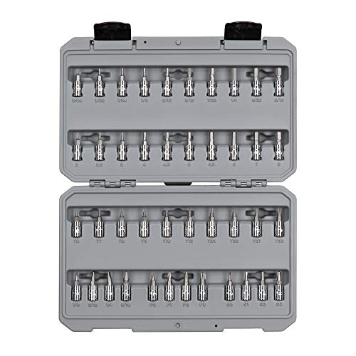 TEKTON 1/4 Inch Drive Hex, Torx, Phillips, Slotted, Square Bit Socket Set (42-Piece)   SHB90301