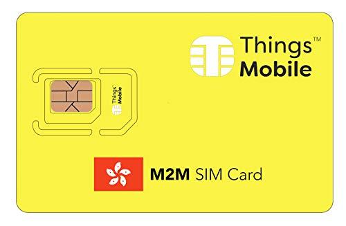 Tarjeta SIM M2M Hong Kong - Things Mobile - Cobertura Global, Red multioperador GSM/2G/3G/4G, sin costes fijos, sin caducidad, tarifas competitivas. 10 € de crédito Incluido