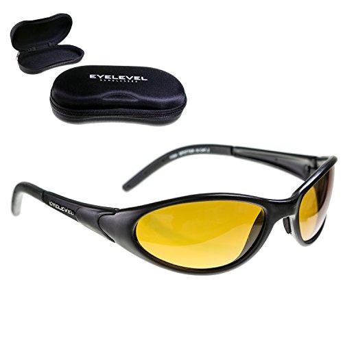 Eyelevel Fish-Spotter + HARDCASE | POLARISATIONSBRILLE Polbrille aus leichtem Kunststoff - Anglerbrille mit UV400 Schutz (UV A/B) | entspiegelt Wasserflächen | bruchsichere Kunststoffgläser