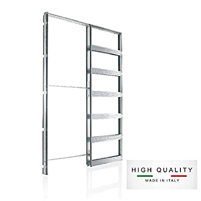 """Eclisse Pocket Door Systems Galvanized Steel Frame Kit (2x4 Wall) (32"""" x 80"""")"""