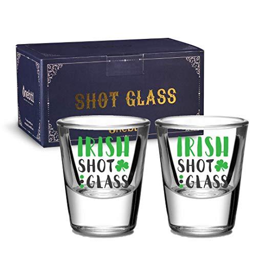Irish Gifts Shot Glasses Set of 2 - 1.5oz Shot Drinking Glass Ireland...