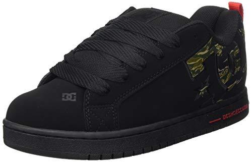 DC Shoes Court Graffik Se, Zapatillas de Skateboard Hombre, Negro (Camo CMO), 43 EU
