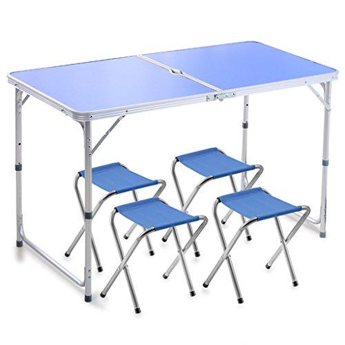 Cqq tapis Table pliante solide Stall extérieur tables pliantes et chaises Dinette domestique Portable en alliage d'aluminium Petite table pliante table pliante