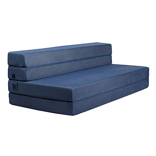 Milliard 11.5cm Tri-Fold Foam Folding Mattress and Sofa Bed for Guests or Floor Mat - Double