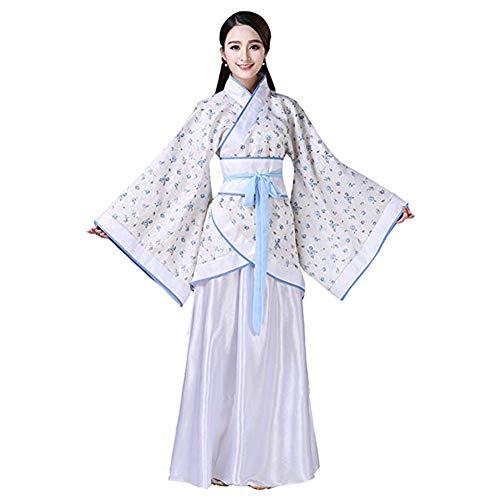 Xinvivion Chinesisch Hanfu - Uralt Traditionell Tang Suit Fairy Rock Kostüm Bühnenperformance Kleid für Damen