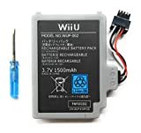 Bateria + Destornillador de Desmontaje para Mando Nintendo Wii U Modelo WUP-002 1500 mAh 3.7V Li-Ion Gamepad