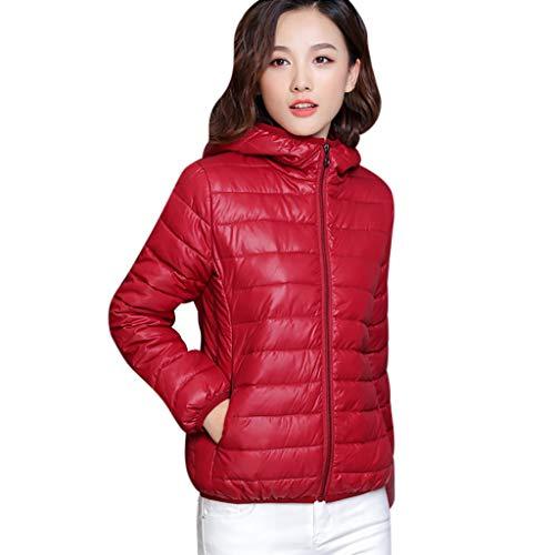 KPPONG Jacke Damen Warm Daunenjacke Kurzmantel Steppjacke Leicht Übergangsjacken Soft Gesteppte Jacke Parka Outdoorjacke