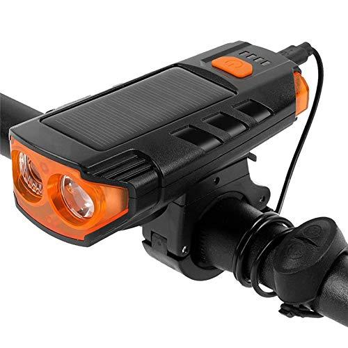 NCRD Luz de bicicleta de alto lúmenes, LED recargable USB Faro delantero de la bicicleta Alto brillante 5 horas de montaña Ciclismo Ciclismo Seguridad Flash Linterna con 5 modos, Luz de bicicleta impe