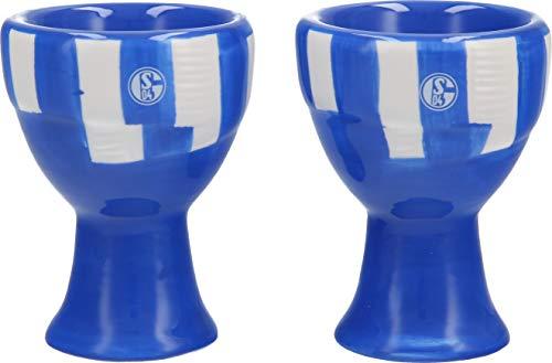 s04 FC Schalke 04 Eierbecher-Set Schal