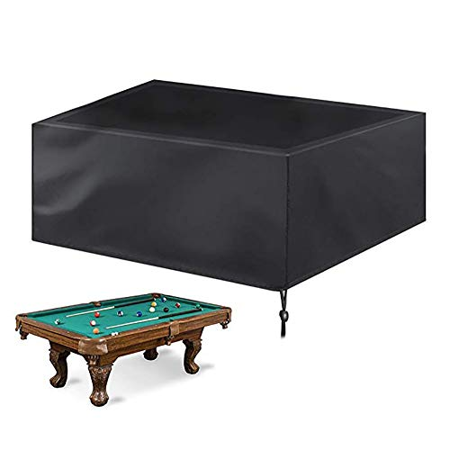 YYQIANG Billiard Table Covers Durable Oxford Cloth 100% UV & Waterproof, Outdoor Furniture Cover Table Cover with Drawstring (Size : 225X116X82CM)