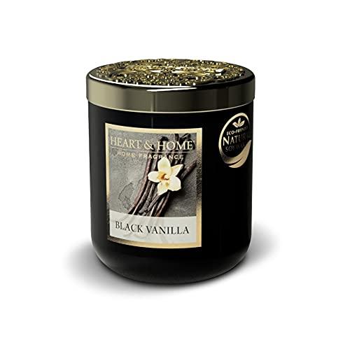 Heart & Home - Vela perfumada pequeña jarra de 115 g, aroma a vainilla negra