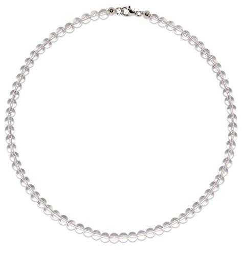Bergkristall Schmuck (Halskette) Bergkristall Kette Bergkristall Kugeln Größe ca. 6 mm Verschluss 925er Sterling-Silber Modellnummer 3057