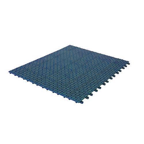 Multiplate Lot de 4 dalles flexibles en plastique pour intérieur Extérieur et jardin Drainantes et autobloquantes 55,5 x 55,5 cm