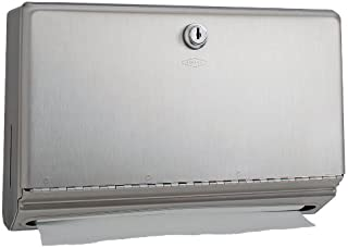 Bobrick 26212 ClassicSeries Stainless Steel Surface Mounted Paper Towel Dispenser, Satin Finish, 10-3/4