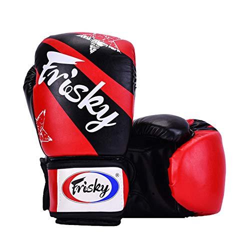 YLYT Boxhandschuhe Beruf Für Männer Und Frauen Erwachsenenbildung Sparring Muay Thai Kampf Kickbox Übung Fitness Mitts,Rot,8oz