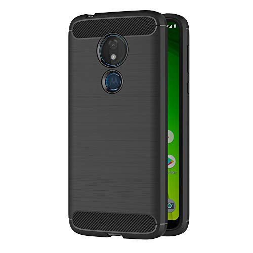 AICEK Cover Moto G7 Power, Nero Custodia Moto G7 Power Silicone Molle Black Cover per Motorola Moto G7 Power Soft TPU Case (6.2 Pollici)