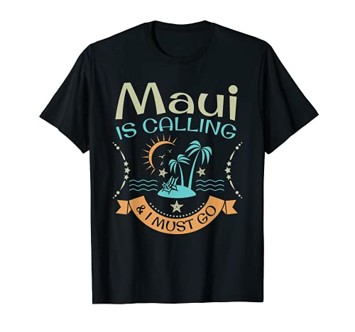 Maui Hawaii Hawaiian Funny Beach Aloha vacaciones de verano Camiseta