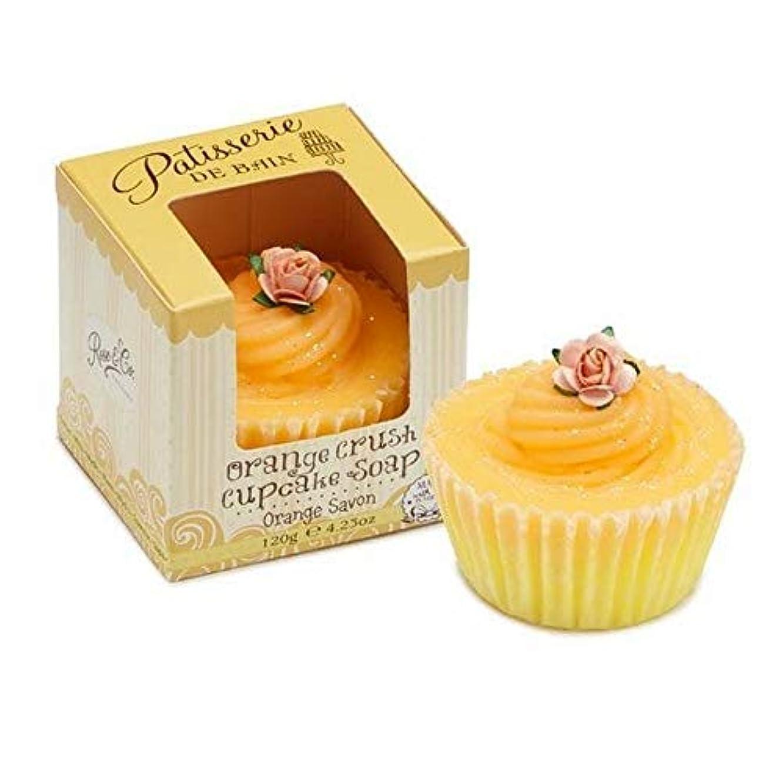 有名パン屋国旗[Patisserie de Bain ] パティスリー?ド?ベインオレンジクラッシュカップケーキソープ120グラム - Patisserie de Bain Orange Crush Cupcake soap 120g [並行輸入品]