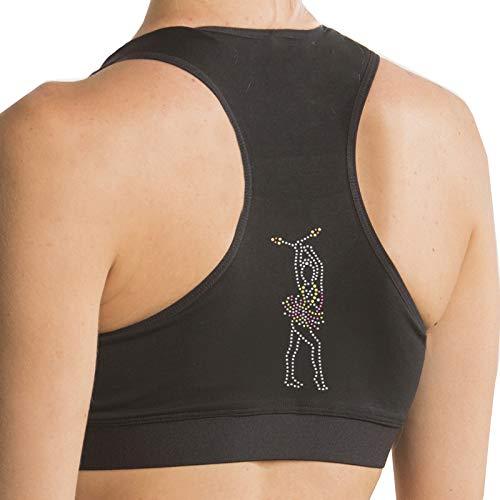 dvillena | Top Gimnasia Ritmica Dibujo Mazas Mujer Espalda Nadador y Diseño Moderno | Actividades Deportivas o Tiempo Libre | Camiseta para Entrenar Niñas, Adolescentes o Adultos | Talla 6