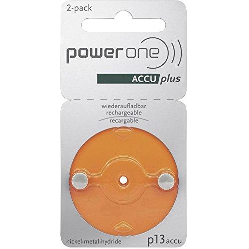 professionnel comparateur Batterie rechargeable PowerOne P13 pour prothèses auditives ZA13 NiMH 31 mAh 1,2 V 2 pièces choix