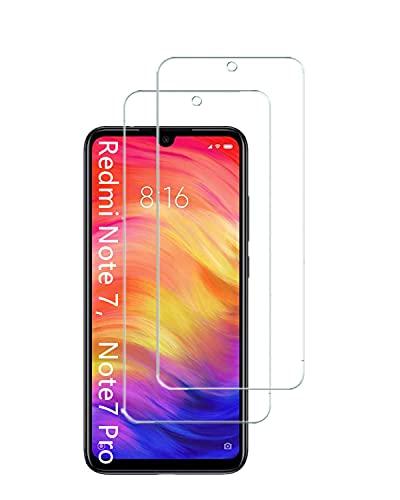 UNO' Protector pantalla cristal templado 2 Unidades compatible con Xiaomi Redmi Note...