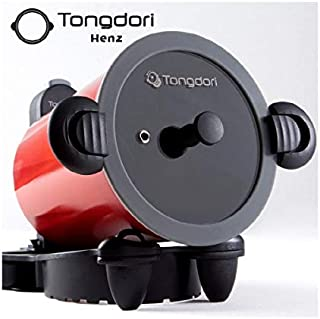 TONGDORI Oven, Wireless Oven, Gas Stove, Self-Rotating Oven, Korean BBQ Grill Baked 20 Minutes Complete, Camping Grill Meat Roasting Revolution of the Oven + Gift (1 Silicone Oven Mitt)