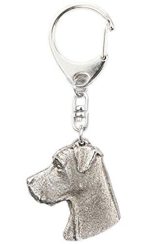 Alano (Testa) Made in UK, Collezione Portachiavi Artistici Stile Cani