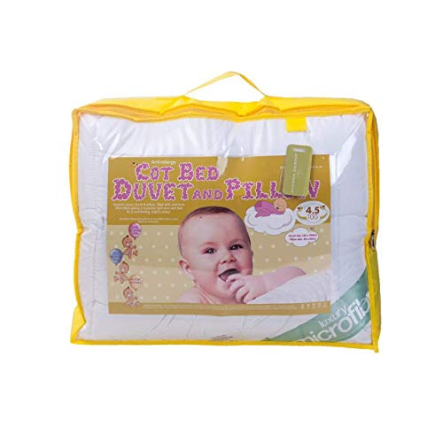 BeddingHome Anti-Allergy Baby Toddler Cot Bed Quilt/Duvet with Pillow 4.5,...