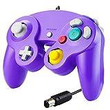 SONVIEE Controlador para Gamecube, Controlador NGC con Cable para Gamecube Classic Game Cube Controlador NGC Super Smash Bros GC Gamepad para Gamecube GC Mario Party Games Wii U Switch (Purple)