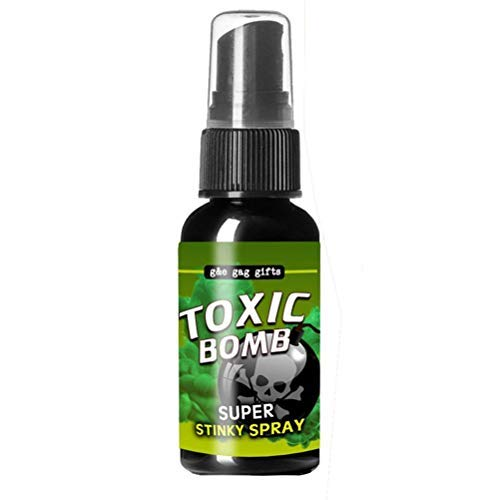 BASOYO 30ml Super Fart Spray Stinky Gas Mist Novedoso Apestoso Broma Spray Stinky Liquid Party Trucos Juguetes, Juguete de Broma de Olor de Larga duración