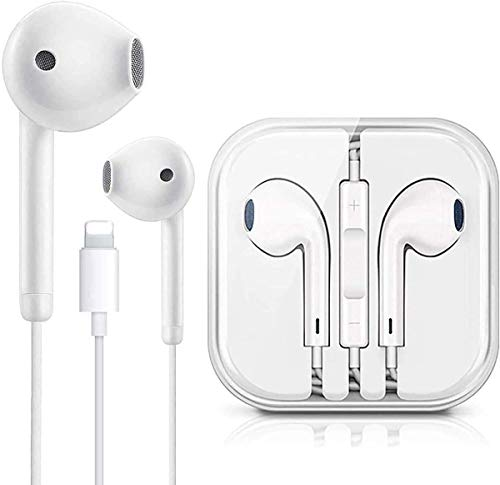 Earbuds Headphones Wired Earphones with Microphone and Volume Control, Compatible with iPhone 11/12 Pro Max/Xs Max/XR/X/7/8 Plus