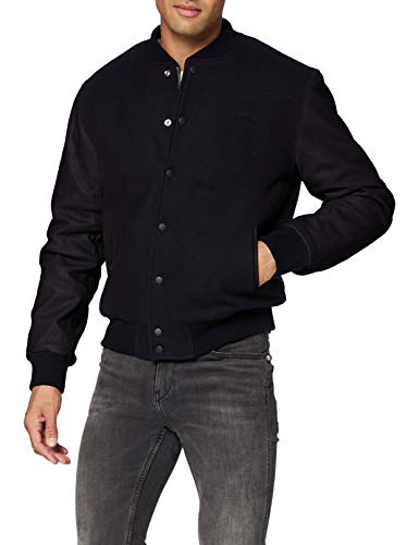 Schott nyc LCUSA Leather Jacket, Black/Black, Medium Mens