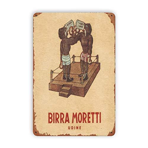 LILILILI BEFULL Birra Moretti Cerveza Estilo 6 Cartel de Metal Decoración para...