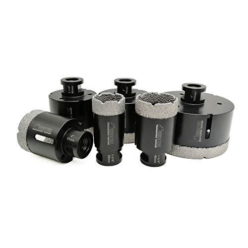 SHDIATOOL 6PCS Diamond Core Drill Bits Set for Porcelain Tile Granite Marble Stone Brick Vacuum Brazed Hole Saws 35 45 51 65 76 102mm
