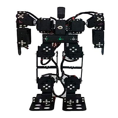 Almencla DIY Robot Toy 13 - DOF Mechanical Human Biped Humanoid Robot Support Walking
