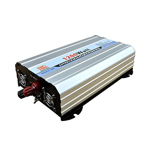 Convertisseur BQ Power Inverter 1200 W DC 12V to AC 220V Transformateur tension de voiture cigarette 2 USB Chargeur de voiture (Argent)
