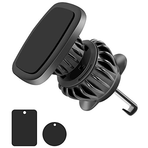 Magnet Phone Holder for Car, Cell Phone Car Mount with 6 Strong Magnet, 360 Degrees Rotatable Car Phone Holder Magnetic Mount for Smartphone and Mini Tablets(Upgraded Clip, Easy to Use)