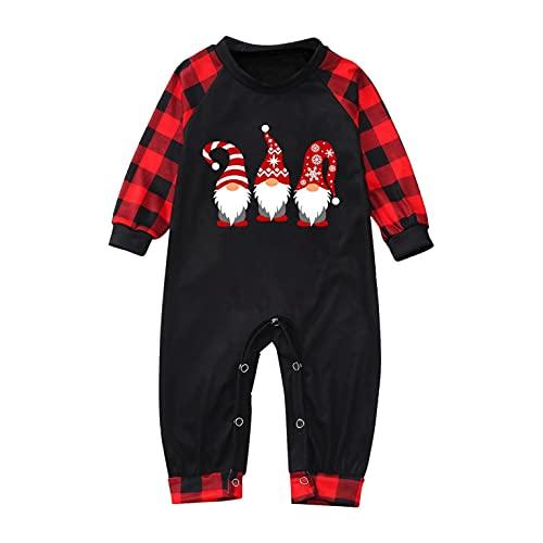 Pijamas de Navidad Familia Conjunto Hombre Mujer Niños Bebé Ropa de Noche Homewear Algodón Camisas de Manga Larga + Pantalones Largos Sets de Pijamas a Juego Navidad Fiestas Entrega de Regalos